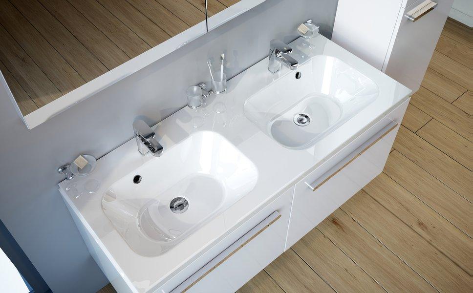 Lavabo double chrome 1200 ravak a s - Paravent de baignoire ...
